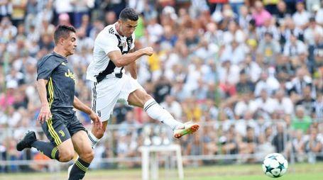 Juventus, il primo gol di Cristiano Ronaldo (Ansa)