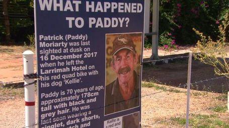 Il cartello posto davanti alla casa di Paddy Moriarty (Twitter)