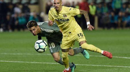 Castillejo nella partita contro il Real Madrid