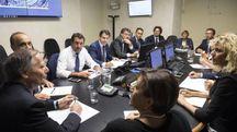 Consiglio dei ministri a Genova (Ansa)