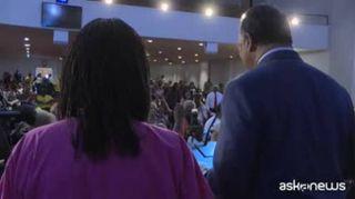 Omaggio ad Aretha Franklin nella Chiesa battista di Detroit