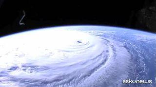 Maltempo, l'uragano Florence visto dalla Stazione spaziale