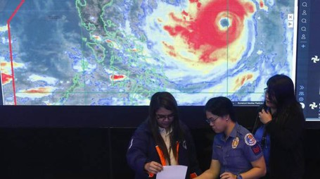Filippine, arriva il tifone Mangkhut (Ansa)