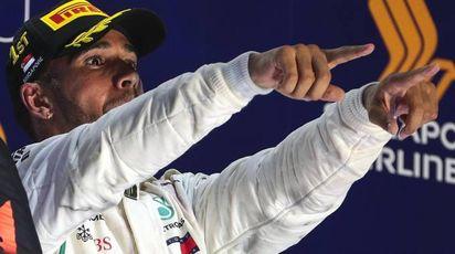 F1, Gp Singapore. Vince Lewis Hamilton (Ansa)