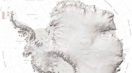 La super mappa dell'Antartide - Foto: National Geospatial-Intelligence Agency