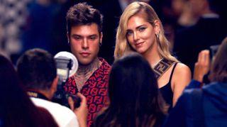 Chiara Ferragni e Fedez supergriffati alla Milano Fashion Week
