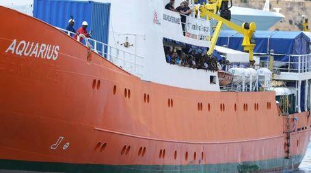 La nave Aquarius a Malta il 15 agosto 2018 (Lapresse)