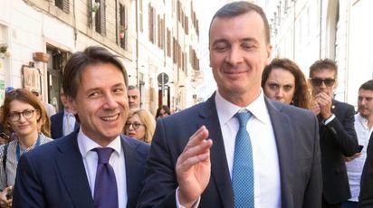 Giuseppe Conte e Rocco Casalino (Imagoeconomica)