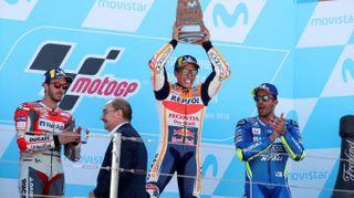 MotoGp Aragon 2018, la gara e il podio