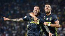 Ronaldo e Bernardeschi, autori dei gol della Juve al Frosinone (LaPresse)