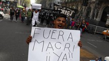Sciopero in Argentina (Ansa)
