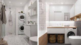 Come ricavare la lavanderia in bagno