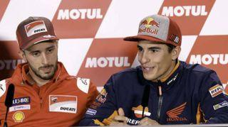 Moto: Dovizioso, sarebbe bello Marquez futuro compagno