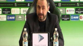 """Sassuolo, De Zerbi: """"Rispetto l'Inter ma possiamo metterla in difficoltà"""""""
