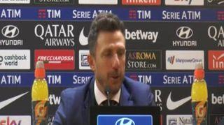 """Roma, Di Francesco: """"Vince sempre chi sbaglia meno"""""""