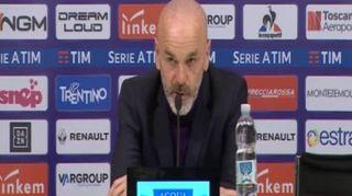 """Fiorentina, Pioli: """"In 11 padroni campo, espulsione ha condizionato"""""""
