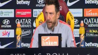 """Roma-Bologna, Di Francesco: """"El Shaarawy in dubbio, Zaniolo gioca ma lasciamolo stare sereno"""""""