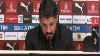 """Milan, Gattuso: """"Cosa ho detto negli spogliatoi?Non si può dire"""""""