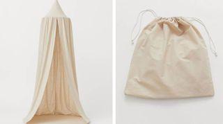 L'angolo lettura di H & M Home che si mette in un sacchetto