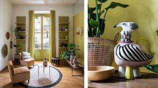 Mix di stili e colori per un appartamento d'epoca rinnovato