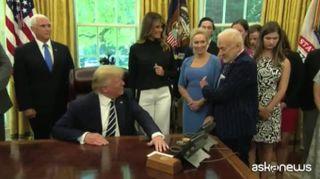 Apollo 11, Trump ha ricevuto Aldrin e Collins alla Casa Bianca