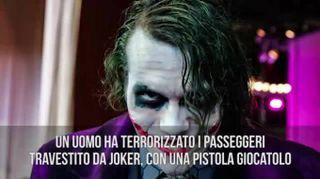 Vestito da Joker scatena il panico nella metro