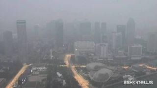 Singapore nella foschia, visibilità ridotta a poche ore dalla F1