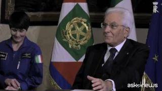 """Spazio, Parmitano dalla Iss a Mattarella: """"Benvenuto a bordo"""""""