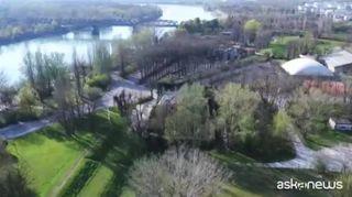 Coronavirus, a Cremona i vigili usano i droni per sorveglianza